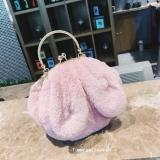 Cute Female New Ears Round Bags Bag Pink Pink Shopping