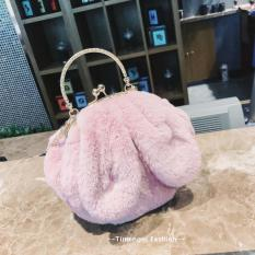 Sales Price Cute Female New Ears Round Bags Bag Pink Pink