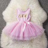 Latest Cute Infant Baby 1St 2Nd 3Rd Birthday Letter Dress Infant Kids Girls Party Outfits G*rl S Princess Dresses Tulle Tutu Little Dress Intl