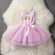 Low Cost Cute Infant Baby 1St 2Nd 3Rd Birthday Letter Dress Infant Kids Girls Party Outfits G*rl S Princess Dresses Tulle Tutu Little Dress Intl