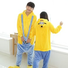 Sale Cute Minions Pajamas *d*lt Unisex Cosplay Kigurumi Onesie Long Sleeve Ployester Flannel Costume Sleepwear S Xl Intl China