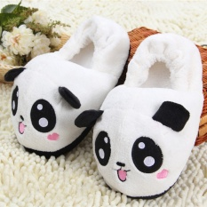 Top Rated Cute Panda Couple Winter Peach Bag With Cotton Slippers And Size Home Furnishing Indoor Antiskid Slippers Bedroom Intl