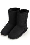 Great Deal Cyber Acevog Fashion Women Flat Casual Winter Warm Faux Fur Snow Ankle Boots Shoes Black