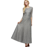 Compare Price Sale At Breakdown Price Cyber Angvns Women Lace 2 3 Sleeve Bridesmaid Homecoming Long Gown Maxi Cocktail Party Evening Fromal Dress Grey On Singapore