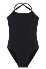 Price Cyber Arshiner Girls Sleeveless Elastic Dancewear Gymnastics Ballet Adjustable Strap Leotard Black Singapore