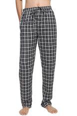 Coupon Cyber Avidlove Men Male Multicolor Plaid Sleepwear Lounge Pajamas Pants Trousers Blue