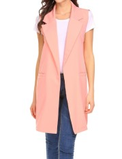 Price Comparison For Cyber Clearance Sale Women Fashion Open Front Long Sleeveless Blazer Vest Waistcoat Intl