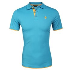 Buy Sale At Breakdown Price Cyber Coofandy Men Fashion Casual Turn Down Collar Short Sleeve Slim Fit Contrast Color Polo Shirt T Shirt Tops Export