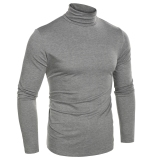 Compare Price Cyber Coofandy Men Fashion Slim Fit Thermal Underwear Turtleneck Long Sleeve Solid T Shirts Grey Intl Not Specified On Hong Kong Sar China