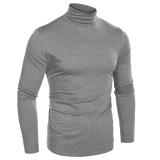 Buying Cyber Coofandy Men Fashion Slim Fit Thermal Underwear Turtleneck Long Sleeve Solid T Shirts Grey Intl