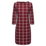 Promo Sale At Breakdown Price Cyber Low Profit New Women Casual O Neck Three Quarter Sleeve Plaid Dress Red Intl