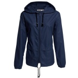 Retail Cyber Meaneor Women S Lightweight Waterproof Outdoor Hoodie Raincoat Cycling Running Sport Jacket Dark Blue Intl