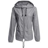 Cyber Meaneor Women S Lightweight Waterproof Outdoor Hoodie Raincoat Cycling Running Sport Jacket Grey Intl On Hong Kong Sar China