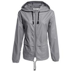Cyber Meaneor Women S Lightweight Waterproof Outdoor Hoodie Raincoat Cycling Running Sport Jacket Grey Intl Discount Code