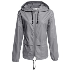 Best Cyber Meaneor Women S Lightweight Waterproof Outdoor Hoodie Raincoat Cycling Running Sport Jacket Grey Intl
