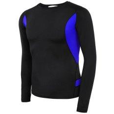 Best Buy Sale At Breakdown Price Cyber Men Raglan Long Sleeve Patchwork Contrast Color Rashguard Swim Shirt Black Intl