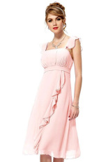 Sale At Breakdown Price Cyber Women Strap S*xy Slim Chiffon Long Maxi Dress Ball Gown Pink On Hong Kong Sar China