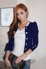 Cyber Women S Long Sleeve Thin Casual Work Wear Blazer Short Coat Outerwear Jackets Blazers Dark Blue Lowest Price