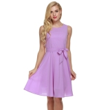 Get Cheap Sale At Breakdown Price Cyber Zeagoo Women Casual Sleeveless A Line Pleated Dress Purple