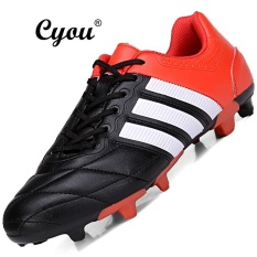 CYOU 2017 New Unisex Adult Children Soccer Boots Firm Ground Futsal Shoes Professional Football Boots Kasut