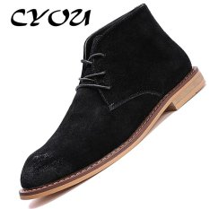 Cheapest Cyou Men Boots Genuine Leather Business Formal Shoes Ankle Luxury Designer Dress Boots Black Intl Online