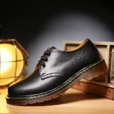 Cyou Men Leather Shoes Casual New 2017 Genuine Leather Shoes Men Oxford Fashion Lace Up Dress Shoes Outdoor Work Shoe Black Intl Price Comparison