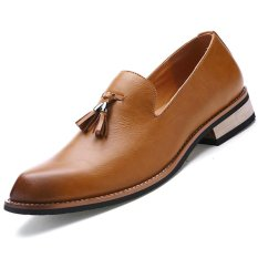 Best Buy Cyou Men S Formal Shoes Business Casual Shoes Slip On Brown Intl