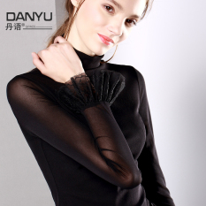 Compare Danyu Mesh Bell Sleeve Lace Long Sleeve T Shirt Base Shirt