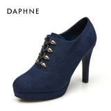 Sale Daphne Comfortable Lace Metal Decorative Waterproof Platform Deep Mouth Shoes Blue 114 Oem Original