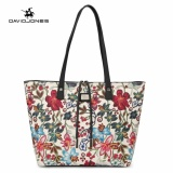Davidjones 2 Piece Women Floral Tote Bag Embroidery Shoulder Bags White Intl Cheap