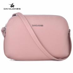 Price Davidjones Multi Pocket Purse Bag Women Small Pu Messenger Bags Female Shoulder Bags Mini Clutch Purse Bag Pink Intl David Jones New