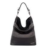 Sale Davidjones Serpentine Tote Shoulder Bags Black Intl