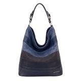 Davidjones Serpentine Tote Shoulder Bags Blue Intl Best Price