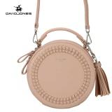Davidjones Weave Tassel Shoulder Bag Round Top Handle Pink Intl Coupon Code