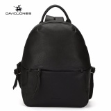 Cheaper Davidjones Women Backpack Female Softback Sch**L Bags Pu Leather Girls Shoulder Bag Black Intl
