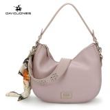 Compare Davidjones Women Mini Hobo Ribbon Scarf Shoulder Bags Pu Femal Handbag Pink Intl