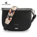 Cheapest Davidjones Women Ribbon Scarf Shoulder Bags Pu Femal Shoulder Bags Black Intl Online