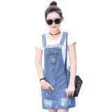 Buy Women S Korean Style Denim Onesie Dress Online China