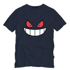 Compare Prices For Design Anime Cartoon Gengar Printed Cotton O Neck Short Sleeve T Shirt In Men Dark Blue Intl