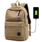 Wholesale Detachable Charger Usb Line Unisex Canvas Waterproof Travel Sch**l Computer Bag Backpack Color First Pic Size 44X17X32Cm Intl