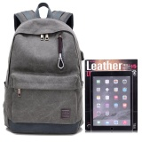 Coupon Detachable Charger Usb Line Unisex Canvas Waterproof Travel Sch**l Computer Bag Backpack Color First Pic Size 44X17X32Cm Intl