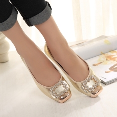 Xiuqizu Women S Low Top Flat Bottom Shoes With Rhinestones Rose Red Champaign Black Champagne Gold Champagne Gold Coupon Code