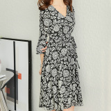 Latest Caidaifei Korean Style Spring And Summer New Style Slimming Chiffon Dress