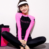 Buy Diving Clothes Split Female Korean Style Long Sleeved Trousers Sunscreen Swimsuit Beach Clothing Surf Wetsuit Jellyfish Clothing Swimming Clothing Oem