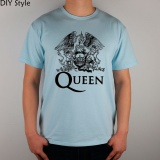 Price Comparisons Of Diy Queen Logo Mens Short T Shirt Cotton Lycra Top 2983 Men Fashion T Shirts Light Blue Intl