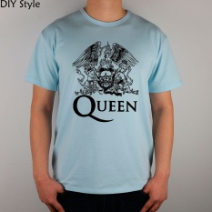 Price Comparisons Diy Queen Logo Mens Short T Shirt Cotton Lycra Top 2983 Men Fashion T Shirts Light Blue Intl