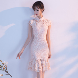 Low Price Fresh New Style G*rl S Gai Liang Edition Dress Cheongsam Meat Pink