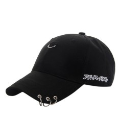 ad0ce241 Dsstyles Unisex Solid Color Embroidery Flat Snapback Hat Adjustable Hip-Hop  Baseball Peaked Cap With