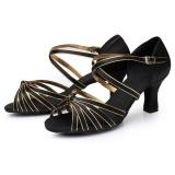 Where Can You Buy Eachgo High Quality Latin Dance Shoes For Women Ladies Girls Tango Salsa Black Gold Intl