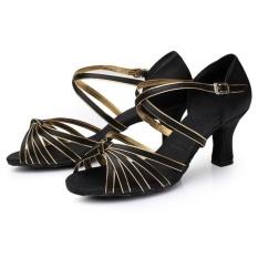 Discount Eachgo High Quality Latin Dance Shoes For Women Ladies Girls Tango Salsa Black Gold Intl Eachgo On China